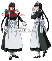 Black Lagoon Roberta Maid Glasses Cosplay Accessory Prop