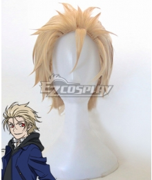 Blood Blockade Battlefront Kekkai Sensen Black the King of Despair Zetsubou ou William Macbeth Golden Cosplay Wig
