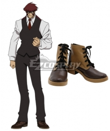 Blood Blockade Battlefront Klaus V Reinherz Brown Cosplay Shoes