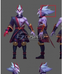 Blood Moon Master Yi Silver Cosplay Wig