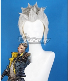 Borderlands 3 Zane White Grey Cosplay Wig