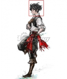 Bravely Default 2 Sailor Seth Black Cosplay Wig