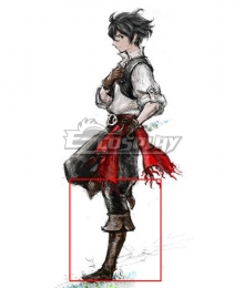 Bravely Default 2 Sailor Seth Brown Shoes Cosplay Boots