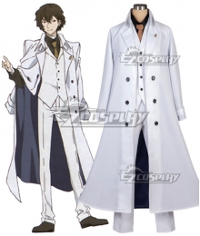 Bungou Stray Dogs Dead Apple Osamu Dazai White Cosplay Costume