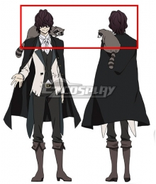 Bungou Stray Dogs Edgar Allan Poe Black Cosplay Wig
