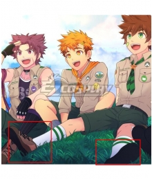 Camp Buddy Keitaro Nagame Brown Cosplay Shoes