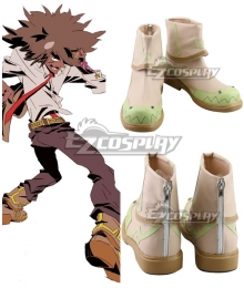 Cannon Busters Philly the Kid Brown Cosplay Shoes
