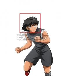 Captain Tsubasa Kojiro Hyuga Black Cosplay Wig