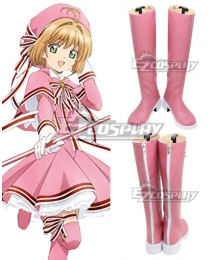 Cardcaptor Sakura Clear Card OP 2 Sakura Kinomoto Rose Heart Shoes Cosplay Boots