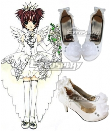 Cardcaptor Sakura Sakura Kinomoto Clamp 15th Anniversary Wedding Dress White Cosplay Shoes