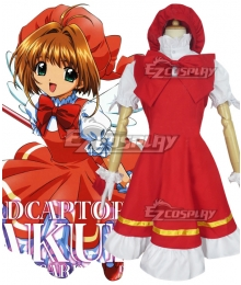 Cardcaptor Sakura Sakura Kinomoto OP Red White Cosplay Costume