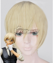 Case Closed Detective Conan Tooru Amuro Rei Furuya Bourbon Light Golden Cosplay Wig