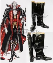 Castlevania 3 Netflix 2020 Anime Vampire Dracula Black Shoes Cosplay Boots