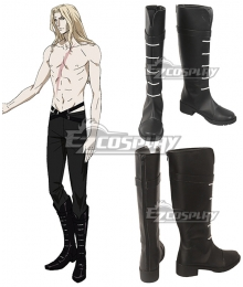 Castlevania Season 2 2018 Anime Alucard Black Shoes Cosplay Boots