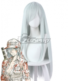 Cells At Work Code Black Neutrophil Silver Cosplay Wig