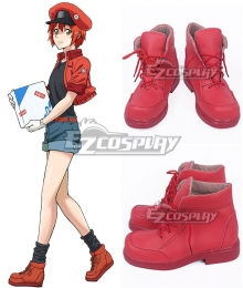 Cells At Work Erythrocite Red Blood Cell Orange Red Cosplay Shoes