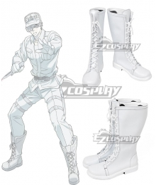 Cells At Work Hataraku Saibou Neutrophil White Shoes Cosplay Boots