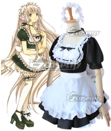 Chobits Chii Eruda Black Maid Dress Cosplay Costume