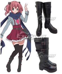 Chuunibyou Demo Koi ga Shitai Satone Shichimiya Black Shoes Cosplay Boots