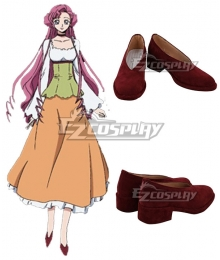 Code Geass Euphemia Li Britanni Euphy Red Cosplay Shoes