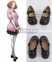 Persona 5 Haru Okumura Cosplay Black Shoes