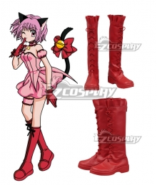 Tokyo Mew Mew Red Shoes Cosplay Boots