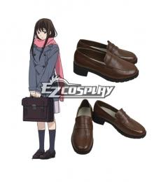 Noragami Aragoto Iki Hiyori Brown Cosplay Shoes