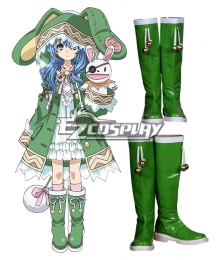 Date A Live Yoshino Hermit Green Shoes Cosplay Boots