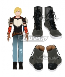RWBY Beacon Academy Team JNPR Jaune Arc Grey Cosplay Shoes