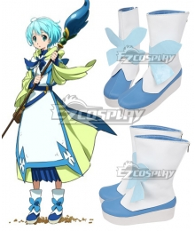 Gate Jieitai Kanochi nite Kaku Tatakaeri Lelei la Lalena White And Blue Cosplay Shoes