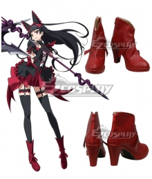 Gate Jieitai Kanochi nite Kaku Tatakaeri Gate Thus the JSDF Fought There Rory Mercury Red Cosplay Shoes