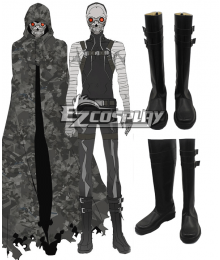 Sword Art Online II GGO Gun Gale Online Shinkawa Shouichi's Creation Death Gun Desu Gan Sterben Flat Shoes Cosplay Boots