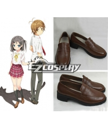 The Hentai Prince and the Stony Cat Tsukiko Tsutsukakushi Brown Cosplay Shoes