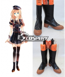 Touken Ranbu Midare Toushirou Black Cosplay Shoes