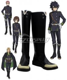 Seraph of the End Owari no Serafu Vampire Reign Yuichiro Hyakuya Yoichi Saotome Shiho Kimizuki Norito Goshi Black Shoes Cosplay Boots