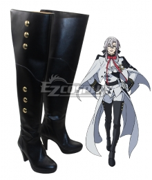 Seraph of the End Owari no Serafu Vampire Reign Ferid Bathory Ferido Batori High Heel Black Shoes Cosplay Boots