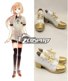 Touken Ranbu Midare Toushirou Gold Cosplay Shoes