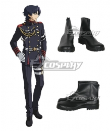 Seraph of the End Owari no Serafu Vampire Reign Guren Ichinose Ichinose Guren Black Cosplay Shoes