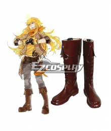 RWBY Yang Xiao Long Male Version Brown Shoes Cosplay Boots