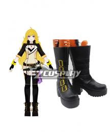 RWBY Volume 2 Yang Xiao Long Black Shoes Cosplay Boots