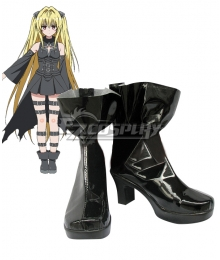 To Love Ru Trouble Darkness 2nd Konjiki no Yami Black Cosplay Shoes