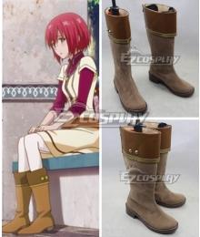 Snow White with the Red Hair Akagami no Shirayukihime Shirayuki Brown Shoes Cosplay Boots