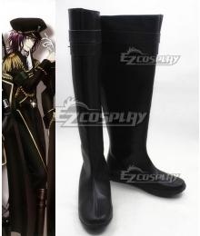 K Return Of Kings Mishakuji Yukari Black Cosplay Boots