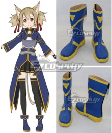 Sword Art Online ALfheim Online SAO ALO Ayano Keiko Silica Blue Shoes Cosplay Boots