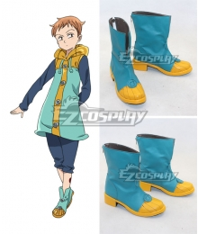 The Seven Deadly Sins / Nanatsu no Taizai King Grizzly's Sin of Sloth Blue Cosplay Shoes