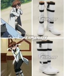 Akame ga Kill Tatsumi White Shoes osplay Boots