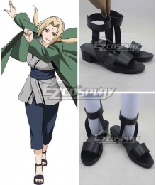 Naruto Tsunade Black Cosplay Shoes