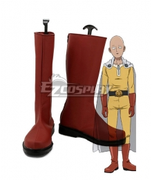 One Punch Man Saitama Caped Baldy Hagemanto Red Shoes Cosplay Boots
