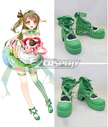 Love Live Valentine's Day Maid Kotori Minami Green Cosplay Shoes