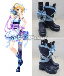 Love Live Valentine's Day Maid Ellie Eli Ayase Blue Cosplay Boots